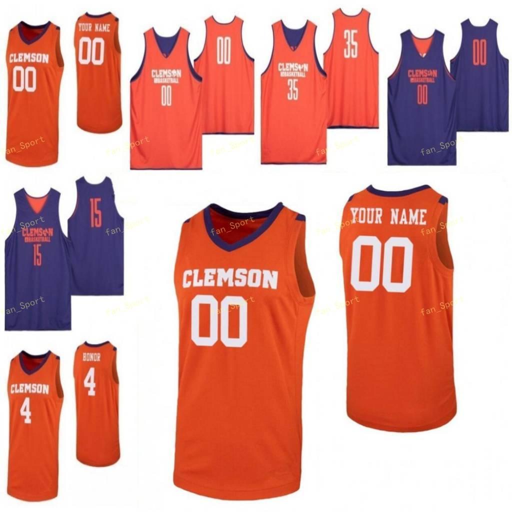 Clemson Tigers Jersey de la universidad de baloncesto 55 Trey Jemison 13 Tevin Mack 20 O'Neil McBride 21 Khavon Moore Hombres Mujeres Jóvenes personalizada cosido