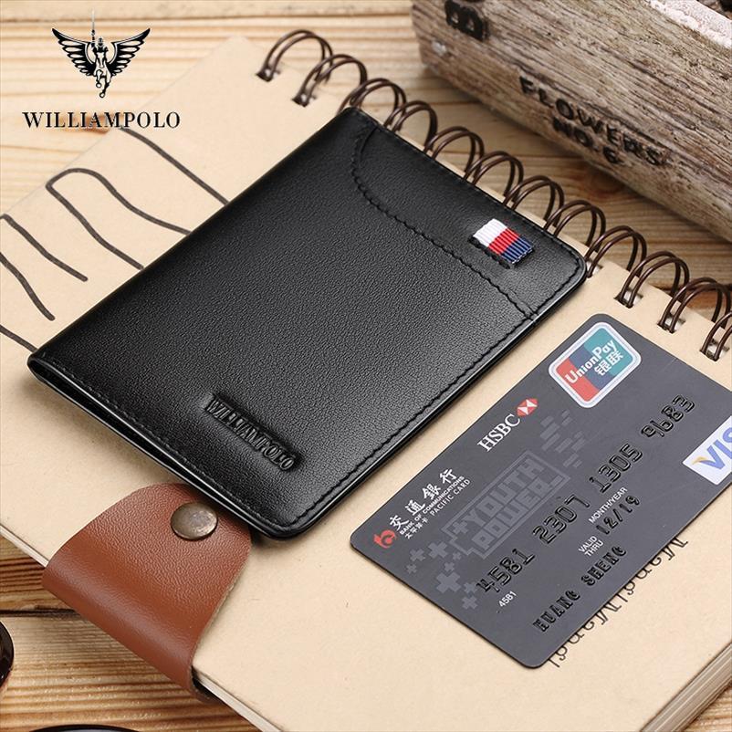 moda marka erkek hakiki deri ince bifold kredi kartı sahibi erkek cebi kese erkek debriyaj PL296 1 cüzdanlar