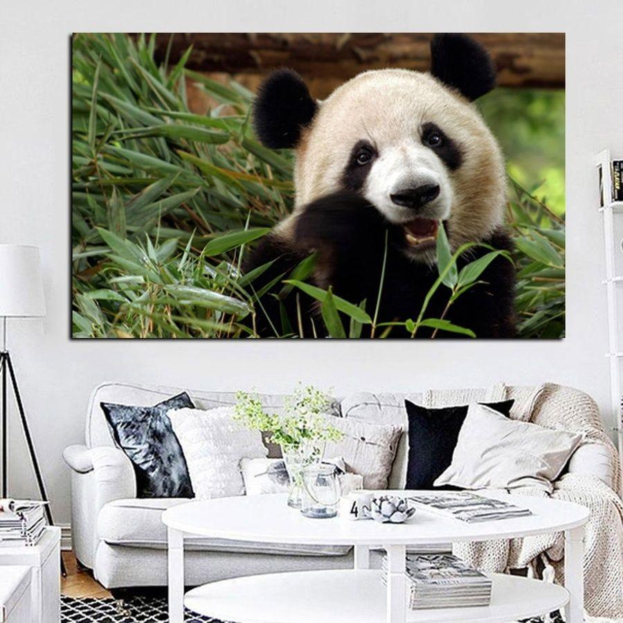 Pop Art Bambu Panda Bear Pintura A óleo sobre Animal de Canvas Pôsteres Impressões Modern Wall Art Imagem para sala de estar cuadros decor