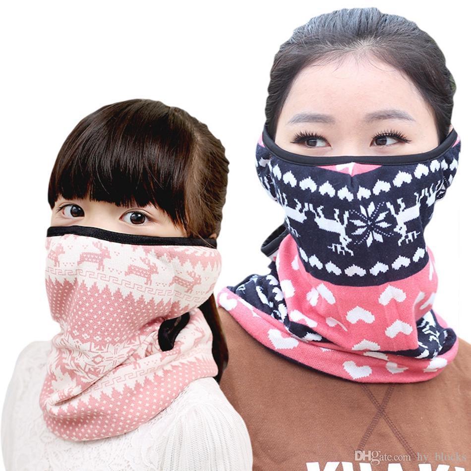 Winterhals-Mundschutz für Gesichtsschal Maske wärmer Kinder Erwachsene Full-Ohren Kaschmir Ljjk2497 Skifahrrad Motorrad Schal Abdeckung FWOJD