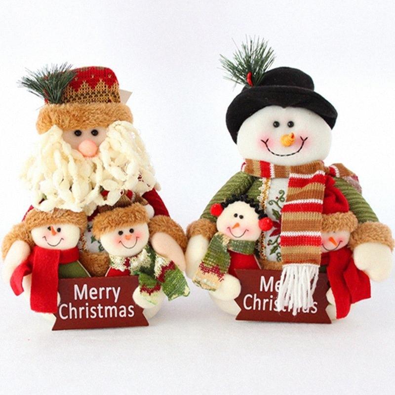 Ritratto Vecchio Snowman decorazione di Natale Nuovo Natale bambole Famiglia Per la casa del partito di festival di goccia RtJk #