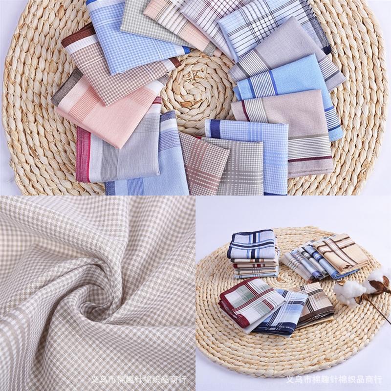 C6UL старик маленький квадратный мужской платок чистый хлопковый платок хлопок маленький квадратный шарф