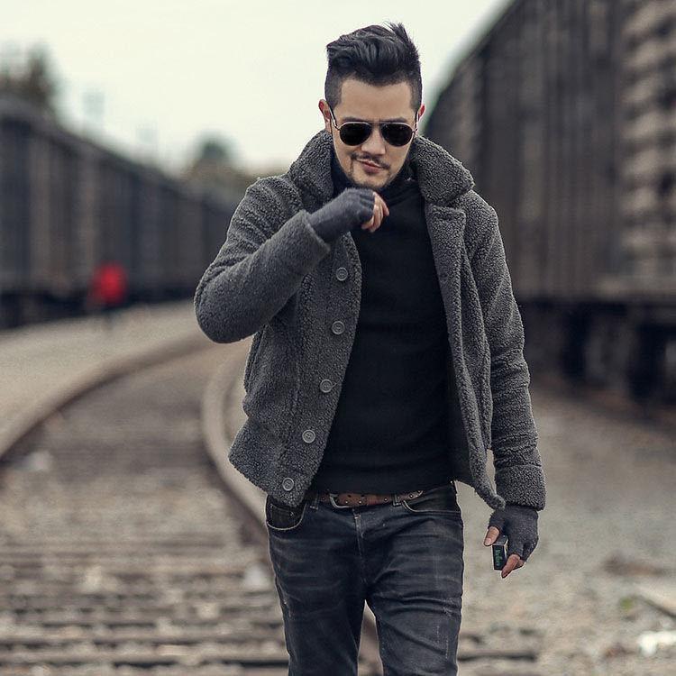 2020 autunno inverno moda uomo giacche da uomo cappotti cappotti cashmere spessi cappotti per uomo corto design