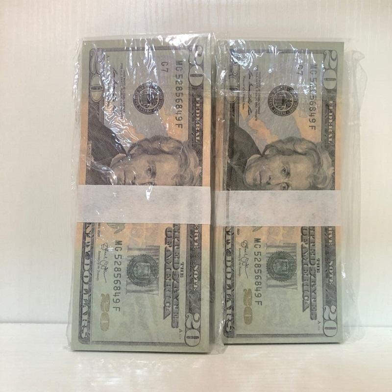 Качество Доллар реквизит бумаги Доставка оптом Eikqm атмосфера высокой бар валюта быстрые 100 бумаги американские деньги 20-1 реквизит кусочки / packag hxix