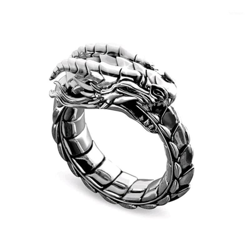 Mode National Wind Amulett Ring Klassische Punk-Stil Norse Mythologische Drachenring Schmuck Für Männer Party Jubiläumsgeschenk1