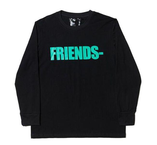 Friends Hip Hop Mens Stylist Felpe a maniche lunghe di alta qualità Black White US TAGLIA S-XL