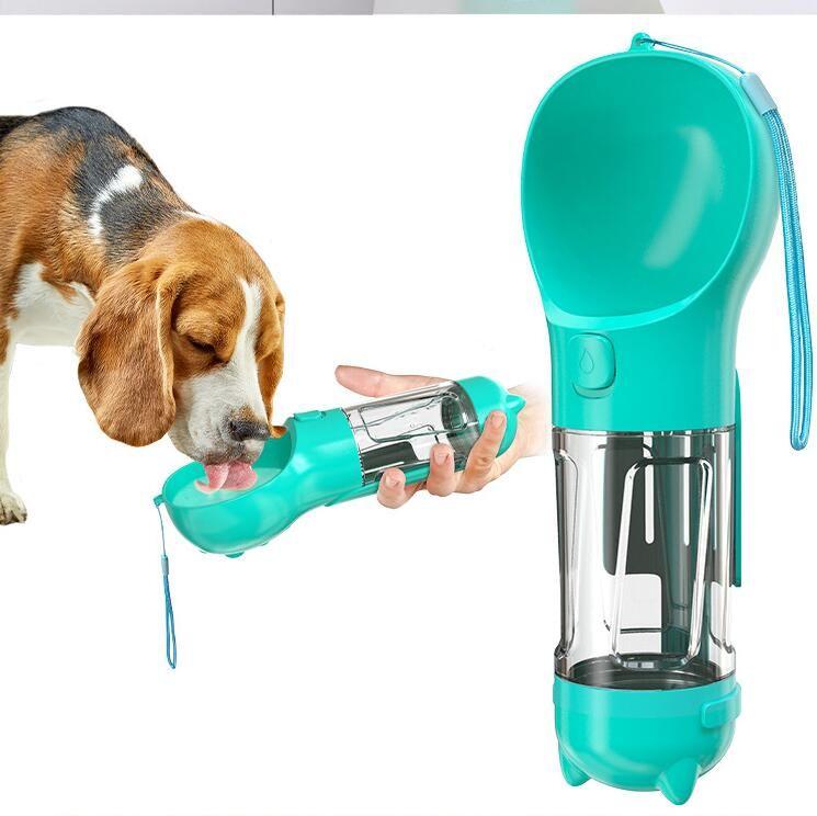 Botella de agua para perros para pequeños perros grandes 300 ml Cat Puppy Cat Portátil Bowing Bown Outdoor PET Dispensador de agua Alimentador Producto mascota Zyy482