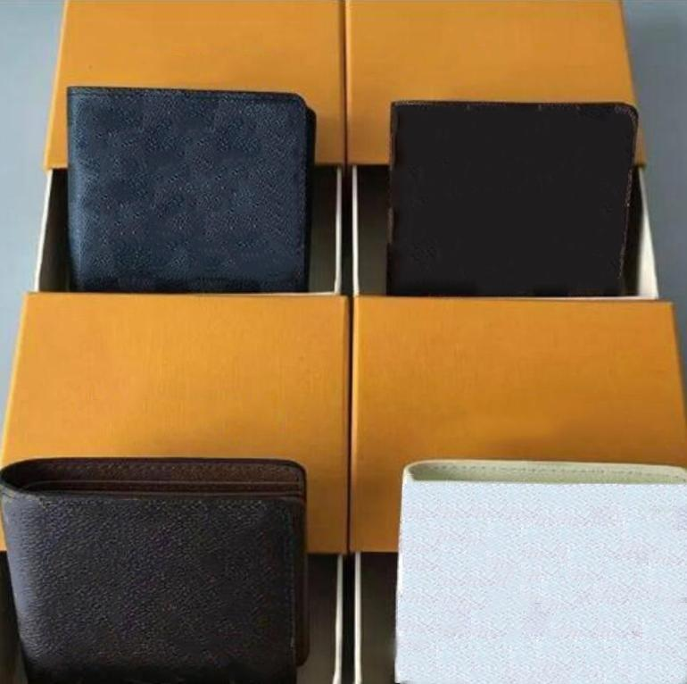 아니오 상자 남성 럭셔리 디자이너 지갑 2020 남성용 지갑을 가진 새로운 남자 가죽 지갑 instock