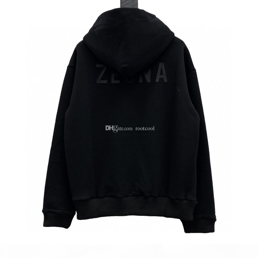 Medo de Deus Essentials x Zegna Top Quality Homens Mulheres Mulheres Nevoeiro Impressão Hoodies Manga Longa Streetwear S-XL