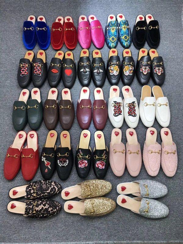 Deri Loafer'lar Muller Tasarımcı Terlik Erkek Ayakkabı Toka Moda Erkekler Kadınlar Ile Prensetown Terlik Bayanlar Rahat Katlar Flats 35-46