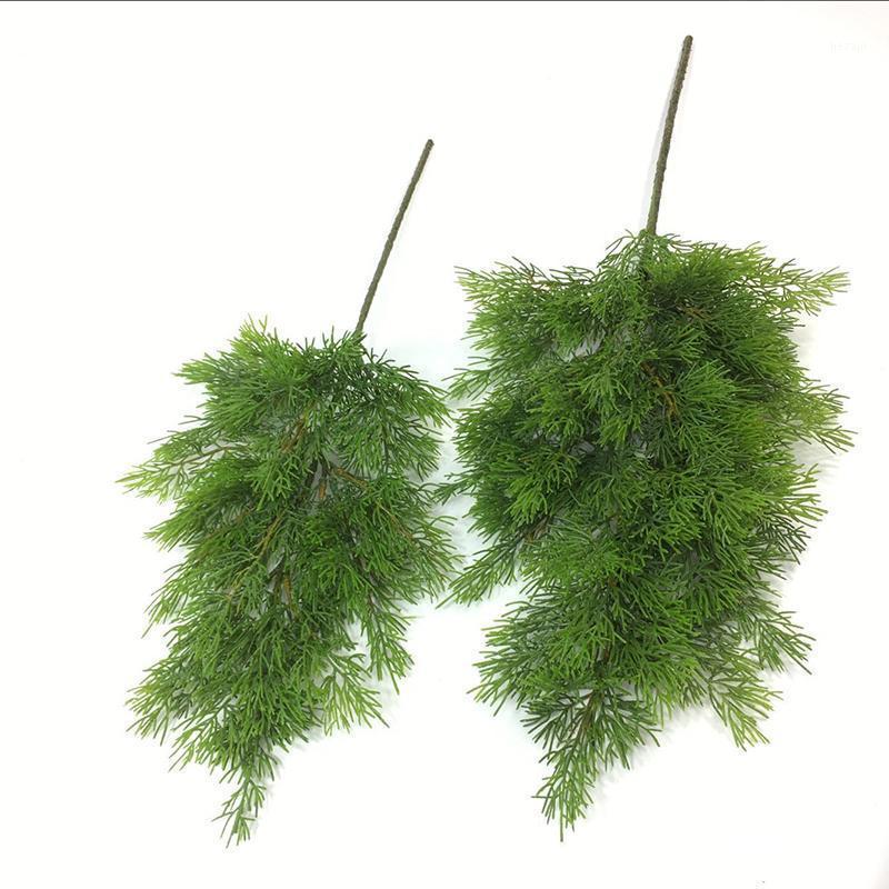 Arte artificial Cypress árbol hoja pino aguja hojas rama navidad boda casa oficina hotel decoración 1