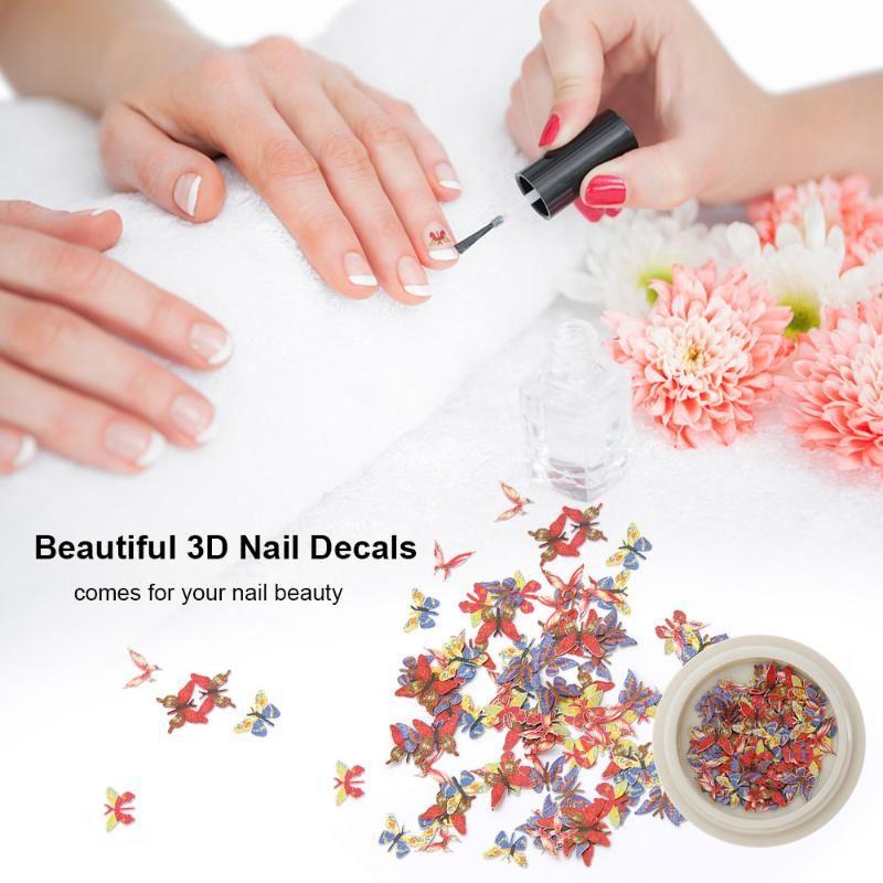 Nail Art Süslemeleri Kadınlar Için 6 Renkler Çıkartmalar 3D Çıkartmaları Kızlar Çocuklar Manikür DIY veya Salon