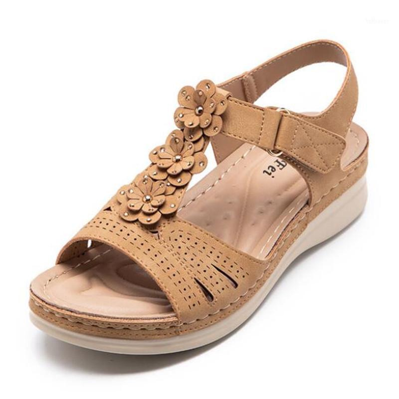 Дизайнер Высококачественные Сандалии Женщины 2021 Новые Летние Цветы Женская Платформа Сандалии Мода Повседневная Женская Обувь Sandles1