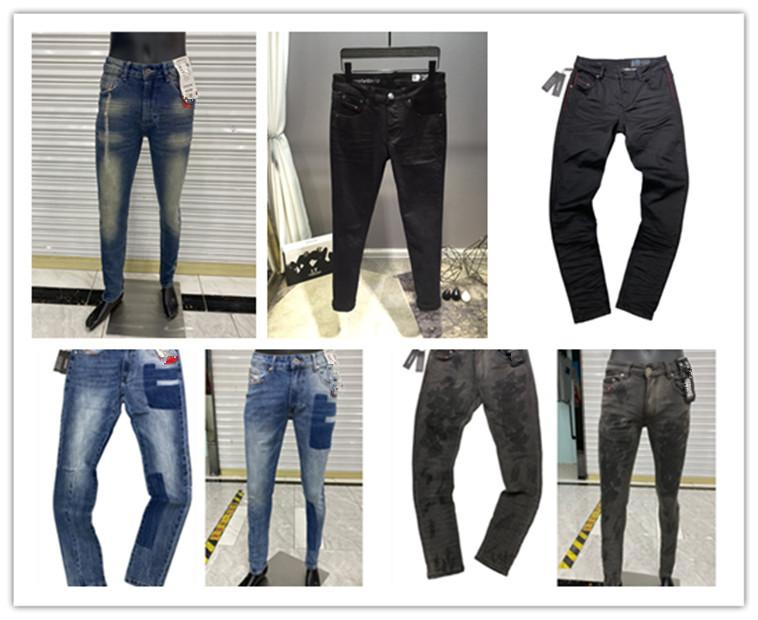 Новый стиль прибытия белые джинсы дизельные классы прямые струны брюки ковбой знаменитый бренд молнии дизайнер горячие продажи мужские брюки размер 29-38