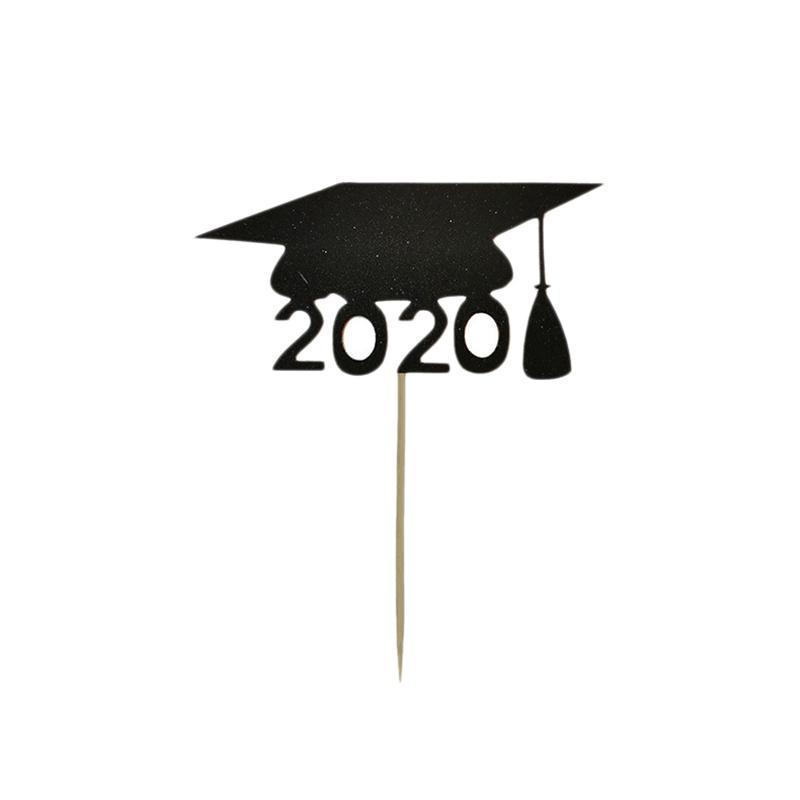 Temporada 50pcs chapéu da graduação bolo Cartão da graduação Decoração Baking Partido layout Simulação bolo Props