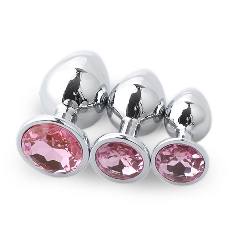 Fiche anale jouets sexuels acier inoxydable acier lisse bout à bout à bout à cristaux de cristal bijoux jouets sexuels femelles / mâles anale gode adulte sexe jouets