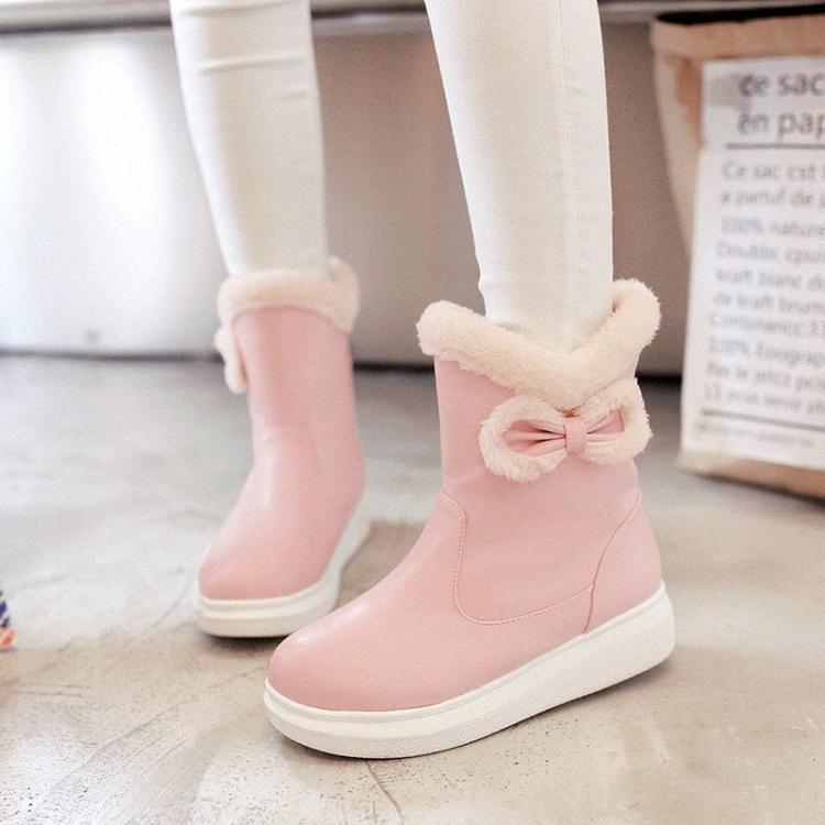 El tamaño grande 10 Zapatos mujeres de los cargadores del tobillo cargadores para las mujeres zapatos de las señoras Invierno mujer plana de cabeza redonda Botas de lluvia para las mujeres cuña botines De MzRS #