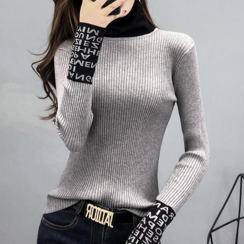 # 3804 enge basische pullover frauen dünne langärmelige frauen pullover und pullover turtkragen schlanke pullover damen strickmode y200910