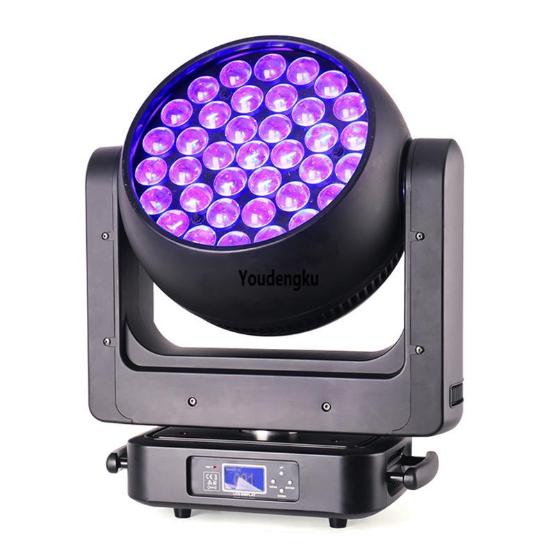 4pcs Newest DJ Disco Stage Light 37 x 20w 4-in-1 RGBW zoom lyre dmx led beam bee eye moving head wash light