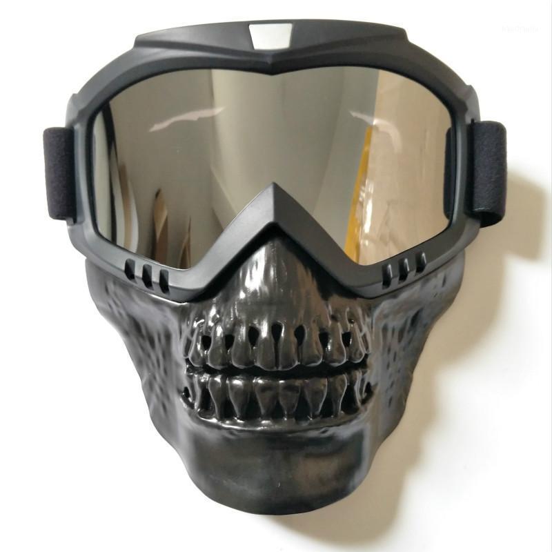 Череп лыжные очки маска съемные сноуборд очки ветрозащитная езда снег снегоход на очках очки SCI смешные лыжные очки oculos1
