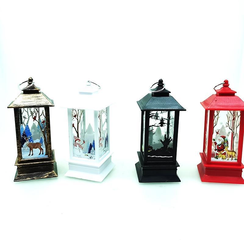 Directo de fábrica de Navidad nuevo producto llevó la lámpara de aceite pequeña llama de simulación decoración de la lámpara portátil barra de la ventana de la decoración de Navidad vacaciones po