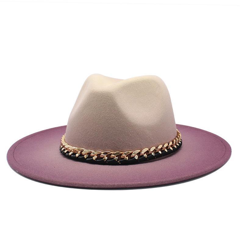 Zimowa Jesień Imitacja Woolen Kobiety Mężczyźni Ladies Fedoras Top Hat Caps Jazz Caps Europejski Amerykański Okrągłe Czapki Minica Kapelusze 201028