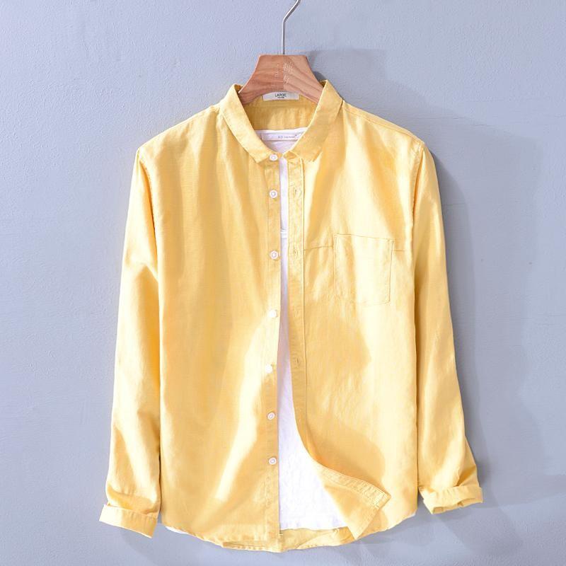 Nouvelle Arrivée Italie Style Marque Chemises à manches longues Men Marque Casual Chemise de mode pour hommes Respirant Sold Shirt Camisa
