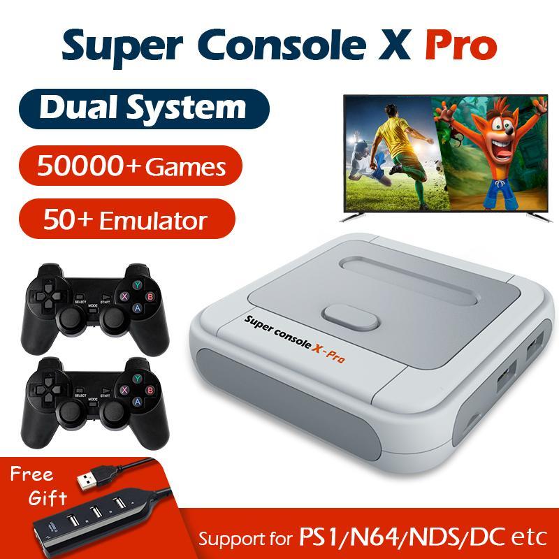 Super Console X Pro Console WiFi 4K HD para PSP / PS1 / N64 Portable Retro TV Jugador de juegos con más de 50 juegos de Emulator 50000+