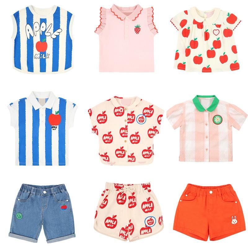 Camisetas de los niños 2020 nuevos del verano de la marca Bebe Niño Niña linda de Apple de impresión de manga corta T-shirt bebé manera del niño remata camisetas Ropa 1005