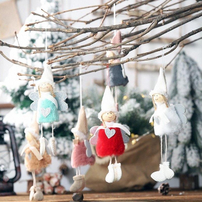 Peluche Pendente Angel innovativo Decorazioni Albero di Natale armadio appendiabiti ornamenti di Natale decorazioni per la casa decorare per Christm XeER #