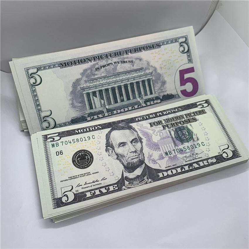 Props Halloween New Edition Moneda USD Conmemorativa Coin Falsit Moneda 5 Sin marcas JREVG Pirate Juego Moneda F1 Papel Lcibu