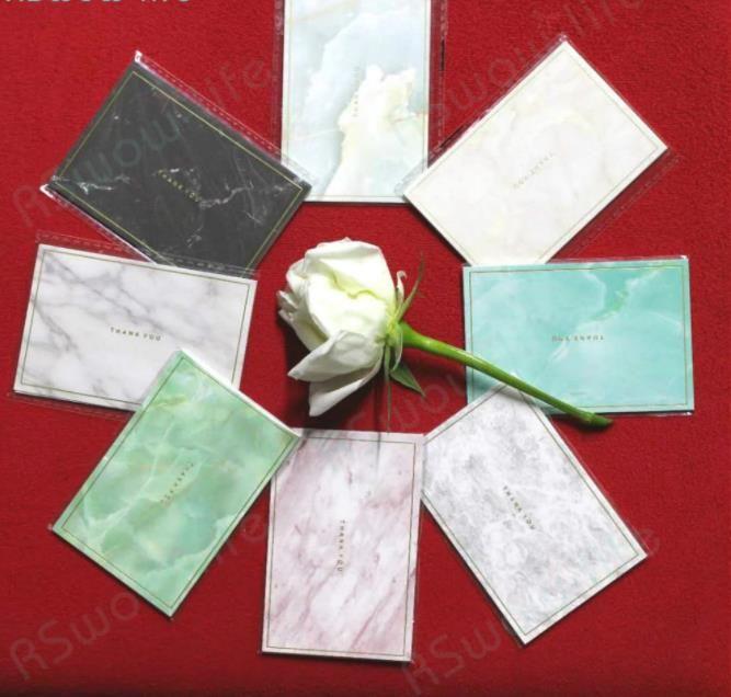 35PCS البسيطة رخامي الذهب البسيطة بطاقة ختم بسيط الإبداعية بطاقات المعايدة بطاقات حفل عيد ميلاد التمنيات بطاقة عيد الميلاد