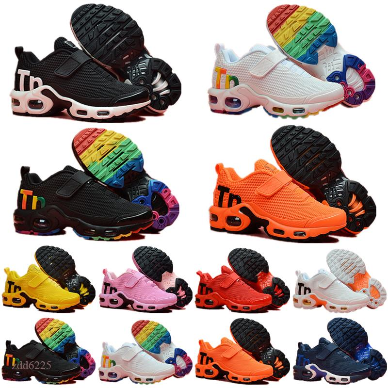 2021 TN Plus KPU magic button Cushion Trainer Children kids sneakers boy girl young kid sport Sneaker size 28-35