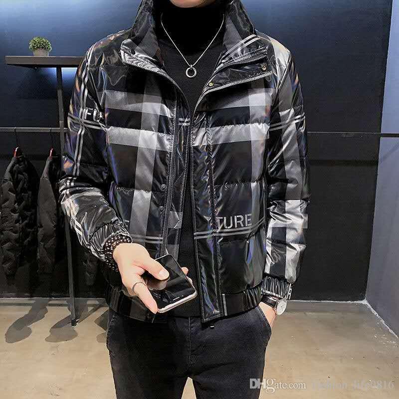 2020 Новые дизайнеры Зимние Пальто Мужчины Повседневная Куртка Спустимые Пальто Мужчины Открытый Warmluxury Куртка Мужская Блестящая Зима Утка Утека