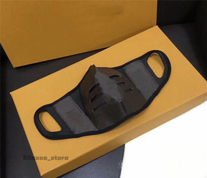 قناع وجه Louis Vuitton 20ss عالي الجودة مصمم للأزياء للرجال والنساء مقاس ضد الغبار أقنعة فم قطنية فاخرة قابلة لإعادة الاستخدام قابلة للغسل مع صندوق