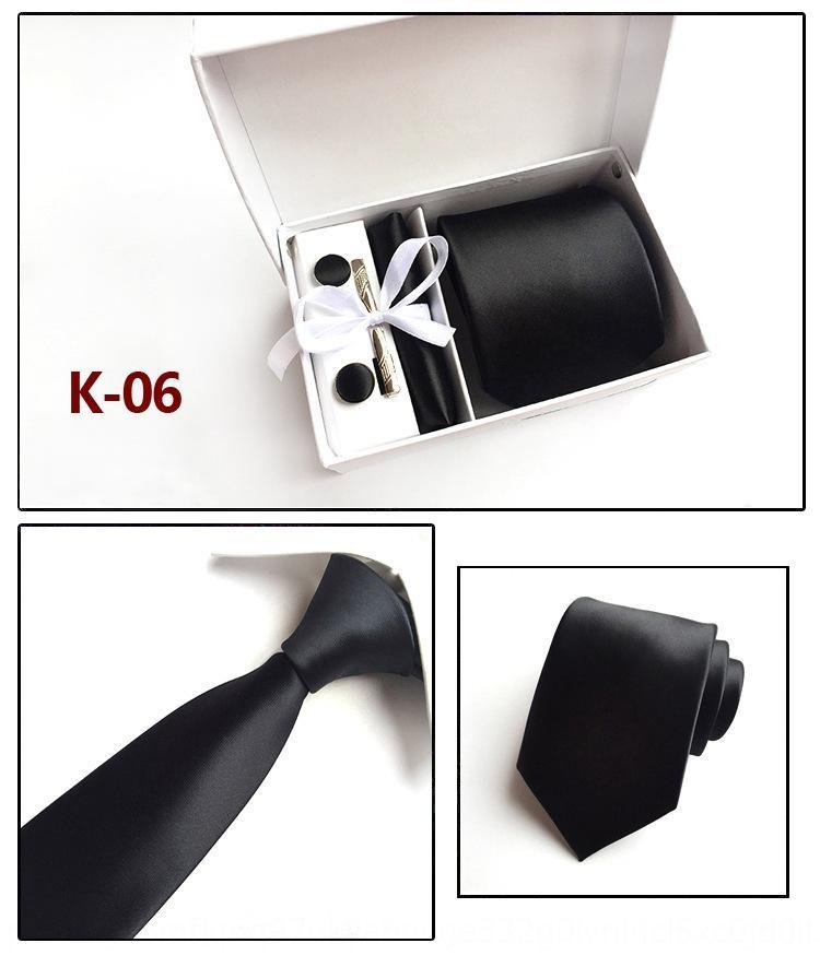 YCCI Box Gestrickte Krawatte Feste Farbe Polka Dots Party Männer Krawatten für Hals gewebt Cravat Hochzeit Strick Bräutigam Strickkrawatten 2020 Zubehör