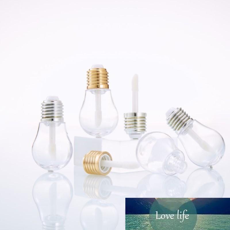 100 adet 5 ml Boş Dudak Parlatıcısı Tüp Ampul Şekli Lipgloss Tüpler, Gümüş Kap Temizle Mini Doldurulabilir Şişeler Ambalaj Konteyner
