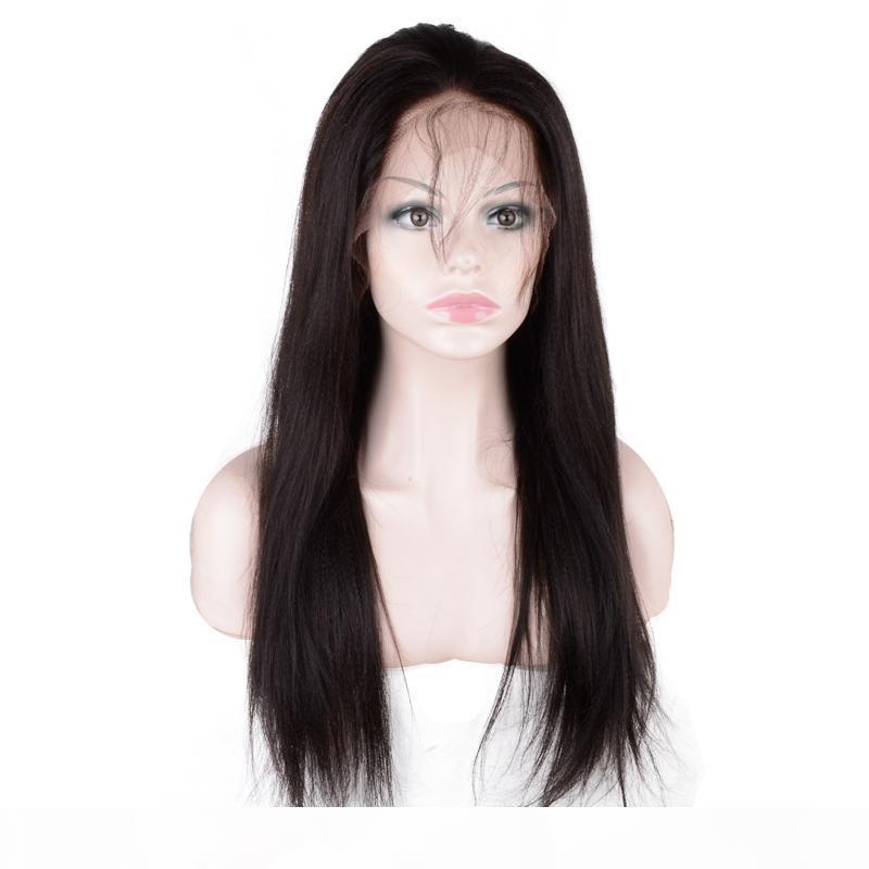 Моя королева 13 * 4 Яки прямые бразильские кружевные фронт человеческие парики для волос для женщин Бесклеевые натуральные цветные отбеленные узлы с волосами для детей