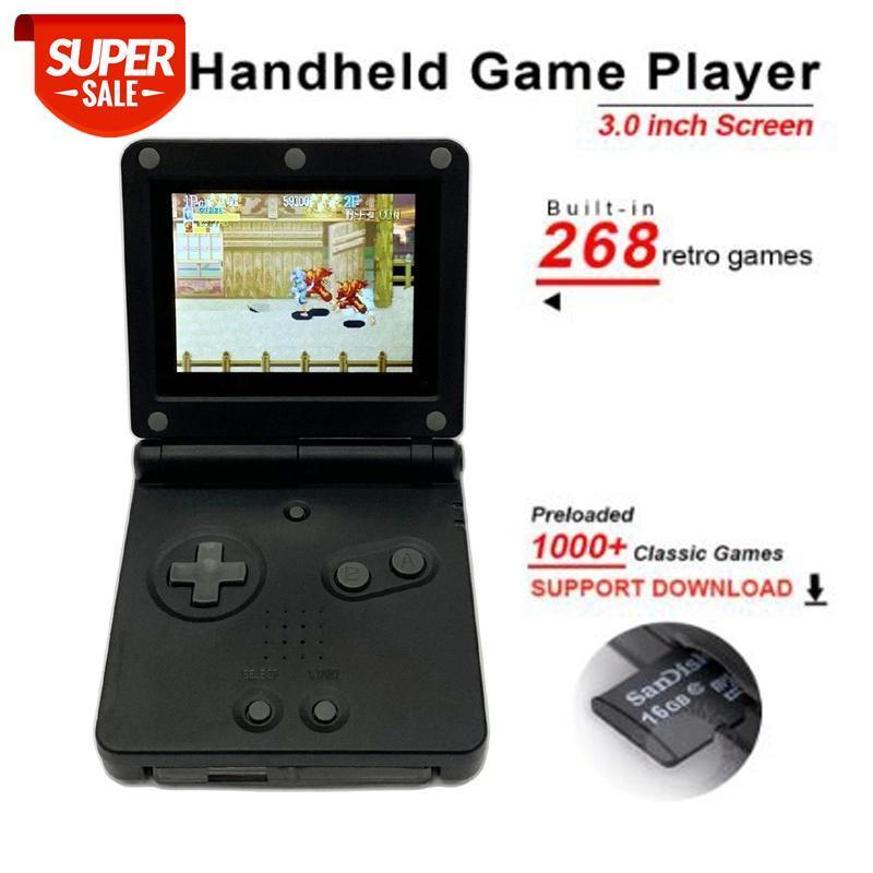 Per GB Boy PvP gioco portatile giocatore di gioco a 8 bit a 32 bit console di gioco con giochi Belt-in 268 retrò per il gioco con slot per schede TF # NV4T