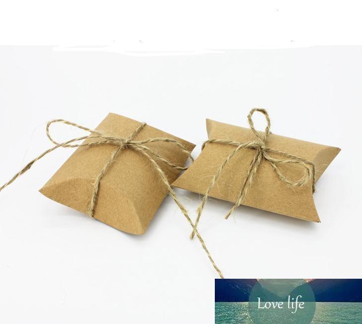 Hot événement mignon de papier Kraft oreiller boîte-cadeau de mariage Favor Party Favor Boîtes bonbons cadeau papier cadeau Boîte Sacs alimentation SN1326