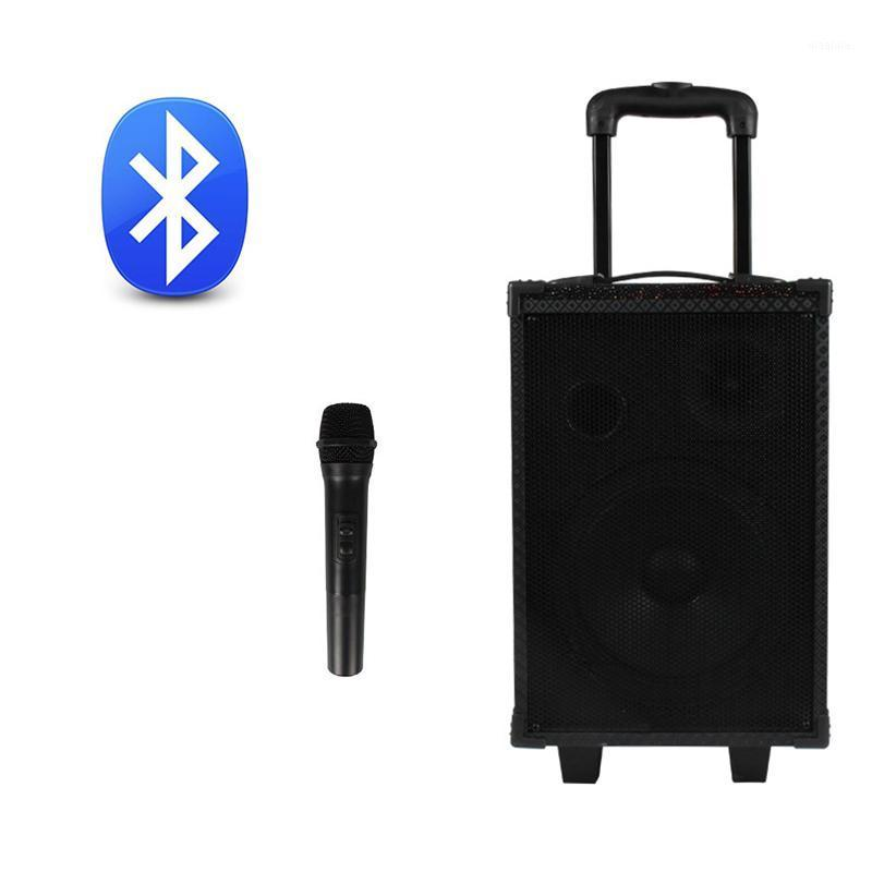 Jiy 8-дюймовый вытягивающий стержень Audio Car Music открытый высокопроизводительный игрок автомобиль Home K S Песня квадратный танец беспроводной микрофон Bluetooth Speaker1