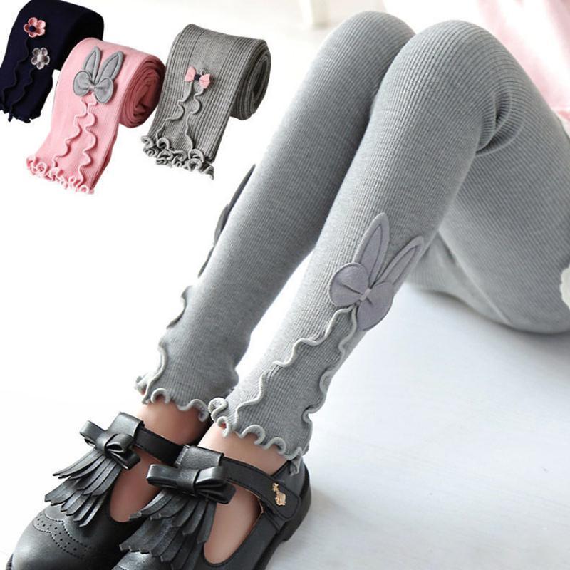 Mädchen Gamaschen Kind-Herbst-warme Baumwollstretch-Gamaschen-dünne Kleidung Hosenhose 3 5 7 8 9 10 11 12 Jahre Kinderkleidung 201112