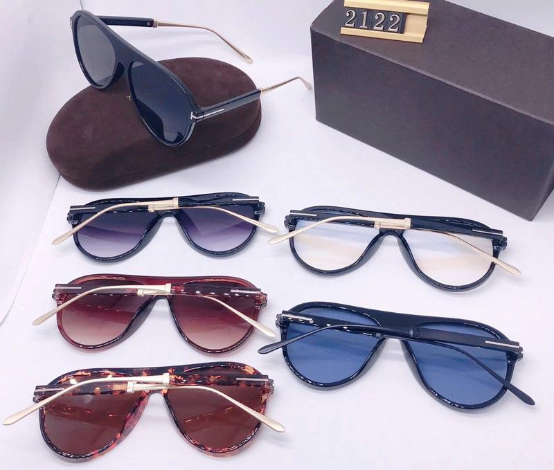 Adam Lensler Yuvarlak Güneş Gözlüğü 2020 Kadın Yeni Güneş Gözlüğü Tom Güneş Kare Gözlük Gözlük UV400 Ford Tasarımcı Trend Moda TF2122 ile Kutusu Gsko