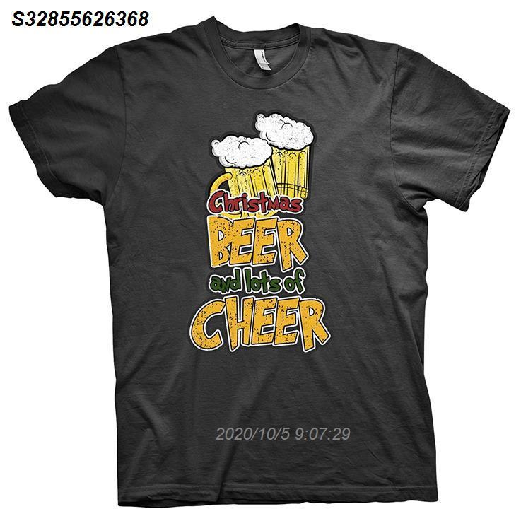 2020 Nueva camiseta para hombre Celebraciones Navidad de la manera del partido de la cerveza y de la alegría de la camiseta 4115510
