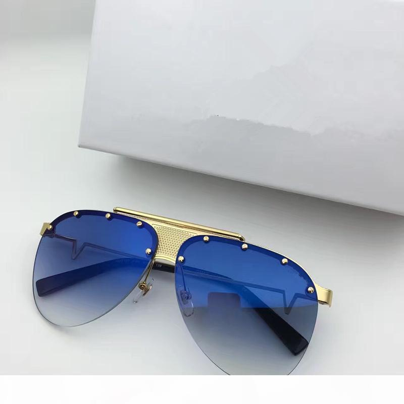 Lujo- New Designer Gafas de sol Sungless Frame Sunglasses Sunglasses Men Brand Designer Recubrimiento Mirrorr Lens VE2178 Steampunk Style Style Style