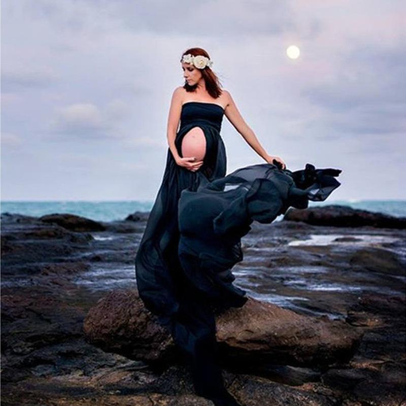 Шифоновое платье Беременность Фотография Реквизит для беременных платья для фотосессии Макси платье, Платья для беременных Одежда C1005