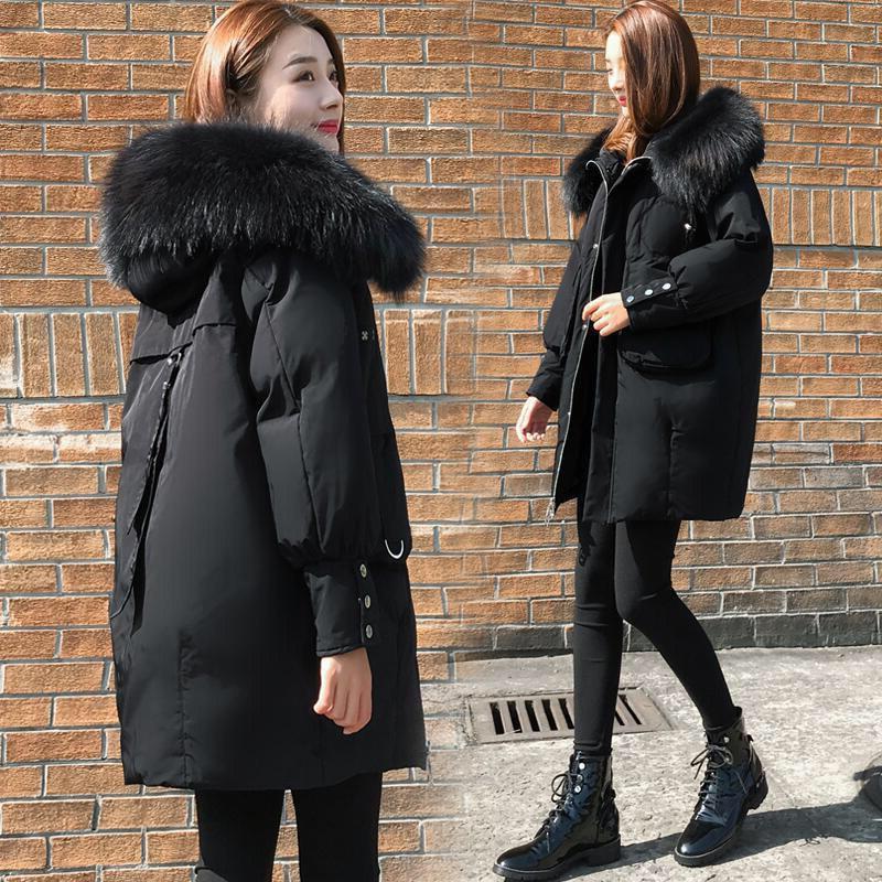 nova irmã gordura moda casaco comprido de algodão magro jaqueta de algodão acolchoado da Mulher