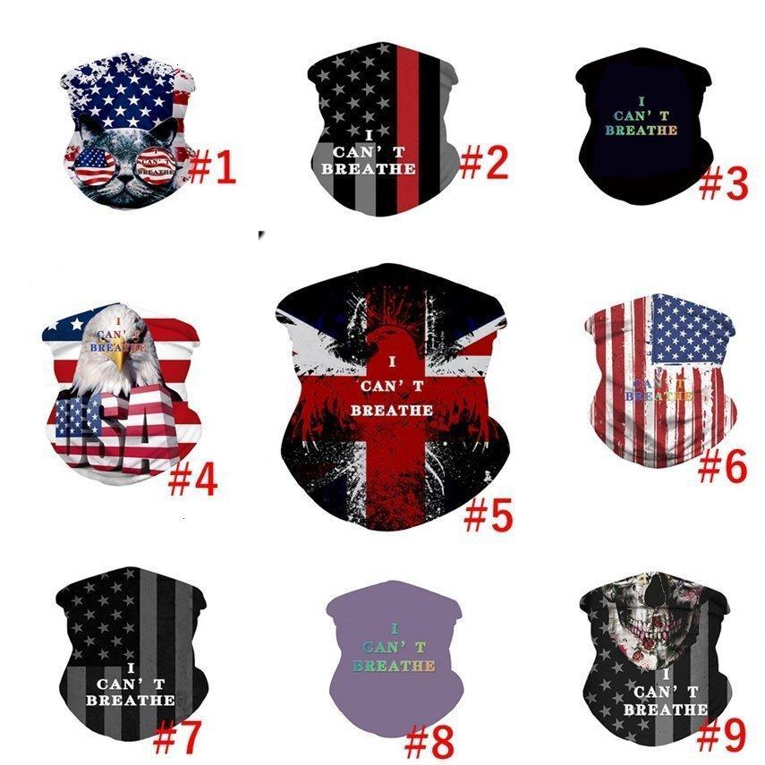 Ne peut pas respirer Magic Mask i Usa Flag Lives noir crème solaire Coiffures été en plein air Cyclisme Bandana Foulard Visage Ljja4150 Poj2 #