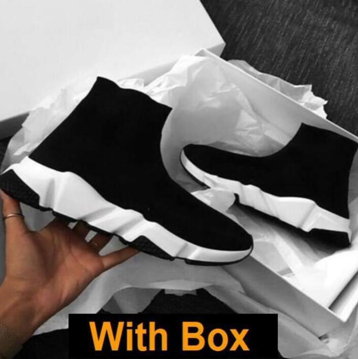 2021 Tasarımcı Rahat Çorap Ayakkabı Kadın Ayakkabı Moda Seksi Örme Elastik Çorap Çizmeler Erkek Spor Ayakkabı Büyük