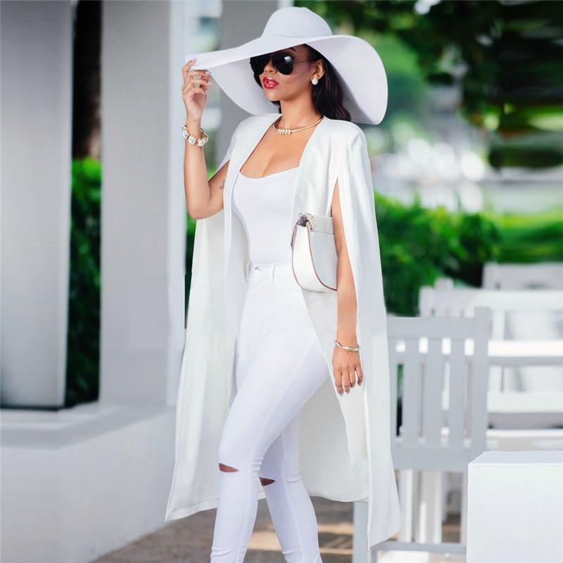 Women Business Coat Long Cardigan Casual Outerwear Autumn Casual Slim Blazers Long Jacket Fashion